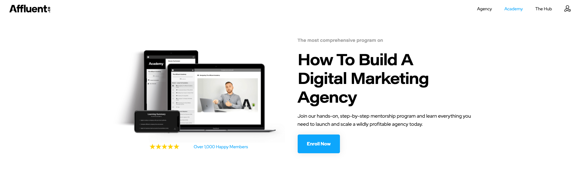 Affluent Academy Review - Legit Marketing Agency Course?